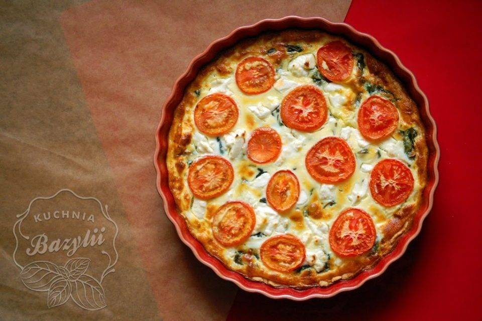 Tarta Ze Szpinakiem Fetą I Pomidorami Kuchniabazyliipl