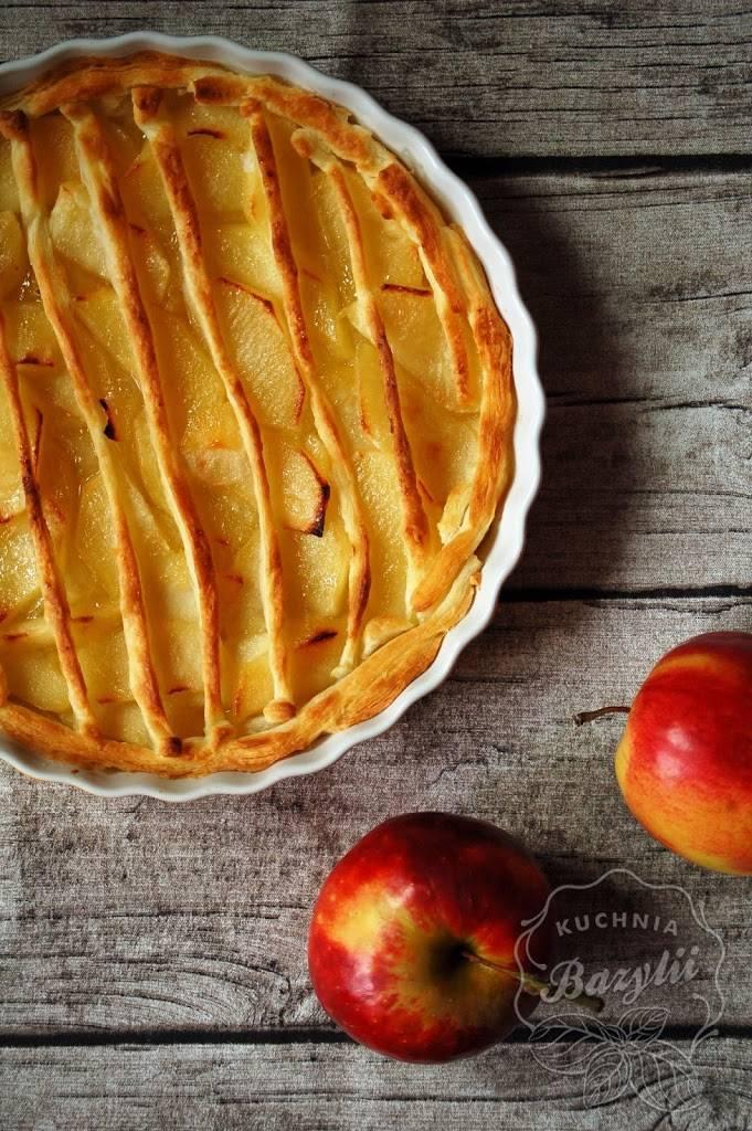 Tarta Z Jabłkami Na Cieście Francuskim Kuchniabazyliipl