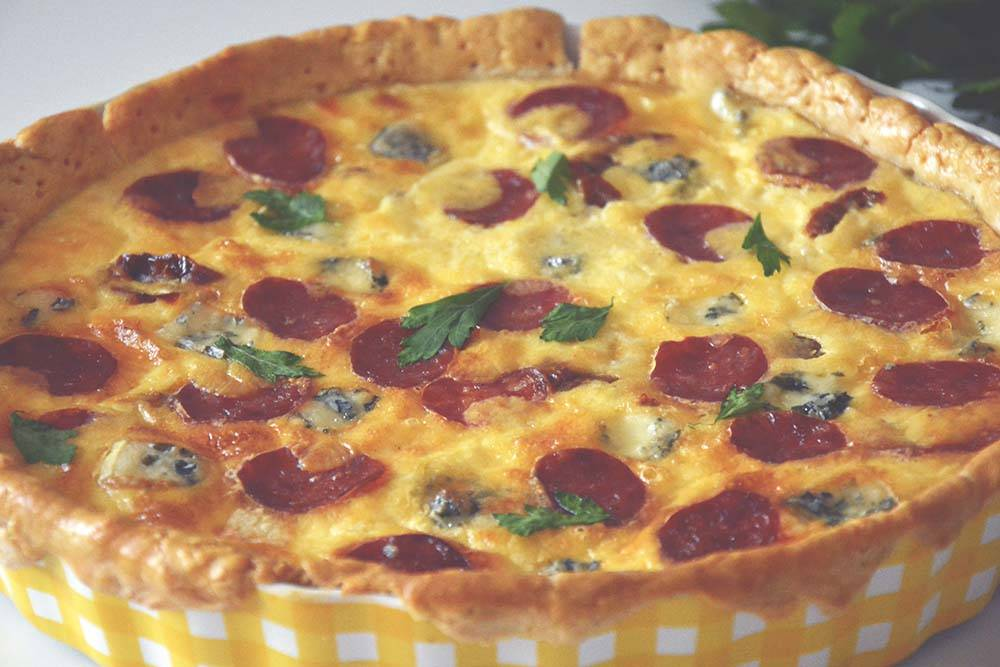 Tarta Z Salami Serem żółtym Suszonymi Pomidorami I Serem