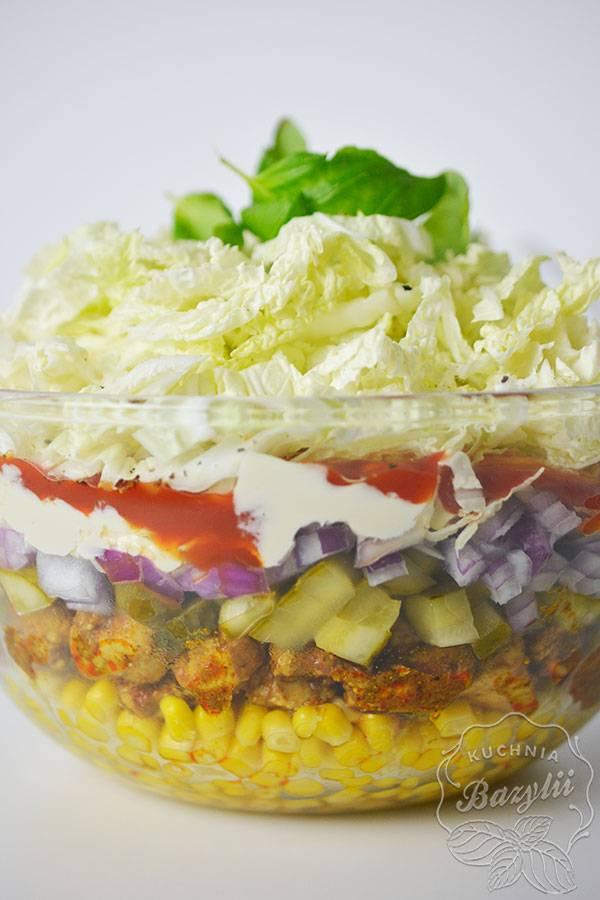Prosta Salatka Gyros Salatka Z Przyprawa Kebab Przepis