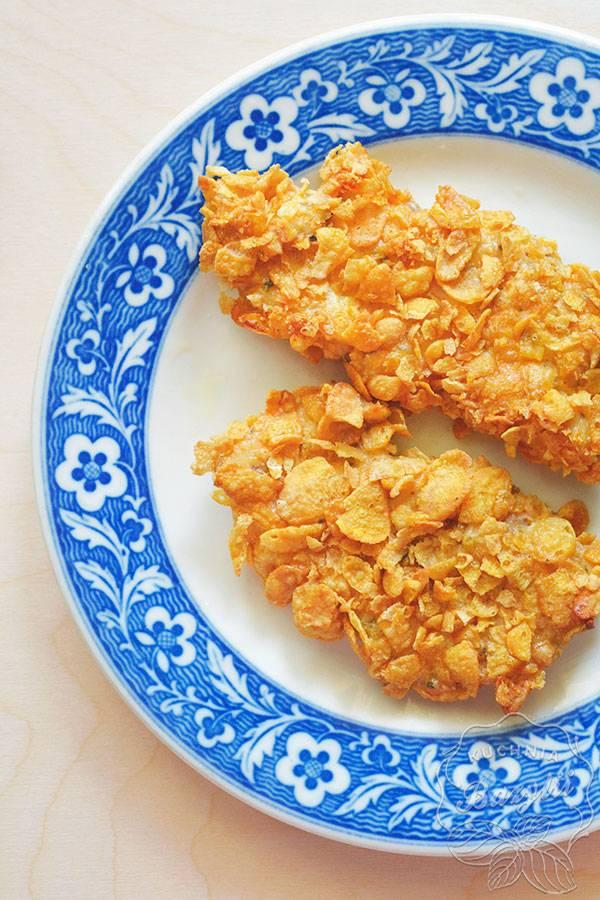 Pieczona Piers Kurczaka W Platkach Kukurydzianych Kuchniabazylii