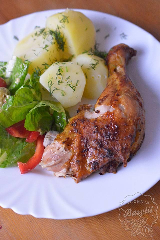 Pieczony kurczak na butelce